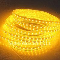 Promotion LED SMD Strip 220v 5050 60leds per meter 220v led strips 5050 14.4w/m,MOQ is 5m,white and warm white