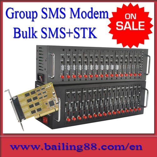 BAILING Q2403 module 16 port group sms modem TCP/IP stack STK support(China (Mainland))