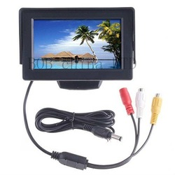 Freeshipping! Car back sight Monitor 4.3&quot; TFT LCD With 2 video input dc12v Low power consumption k380(China (Mainland))