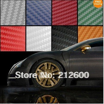 "8""x5"" 3D CARBON FIBER VINYL FILM Sheet Wrap Sticker Film"