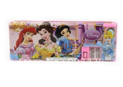Free Shipping by DHL/UPS.EMS!! Fahion Pencil Case School Pencil Princess Cars Stationery Pencil Box G1438 on Sale Wholesale(China (Mainland))