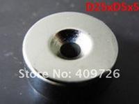 5pcs D25xD5x5mm circular loop neodymium magnet,super strong rare-earth neodymium,N35--Free Shipping