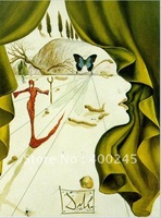 Abstract oil portrait painting,Portrait of Katharina Cornell, 1951 by Salvador Dali,100%handmade,High quality,