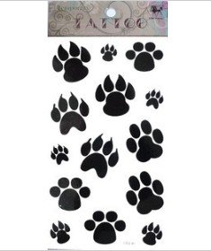 Footprint Font http://www.aliexpress.com/price/dog-tattoos-price.html