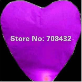 200pcs/lot Chinese Sky lantern fire different colors Heart flying Lanterns Wedding/Birthday Wishing Paper heavenly Balloons