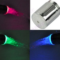 Temperature controlled LED Faucet Light Water sensor Glow Shower RC-F03 Three color 4585