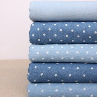 Washed Denim blue cowboy fabrics,Yards selling,tablecloth,DIYcloth,wedding decoration,more colors choose,Wholesale&Retails