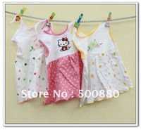 Wholesale - Baby Dress Girl sundress jumper 100% Cotton Girl pinafore baby dress one-piece dresses lovely