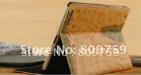 World map Wake-up Sleep and Hibernation Function Smart cover case for iPad 3 2,30pcs/lot,Fedex DHL free shipping