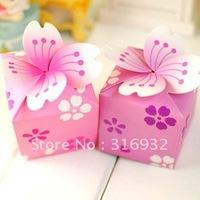 M1 Romantic cherry blossoms wedding box , 50 pcs /lot