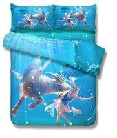 4pcs full/queen comforter/quilt doona cotton Fashion Style duvet covers sets Fabulous blue Capricorn constellation pattern