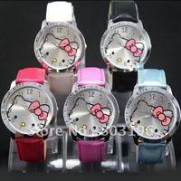Hot Sale Free shipping 3PCS/Lot Hello Kitty Watch Cartoon wrist watch Girl's Fashion Wrist Watches A426