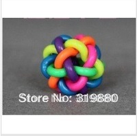 Free shipping Pet toys Rainbow bell ball medium Toy ball Pet supplies & Pet Dog toy