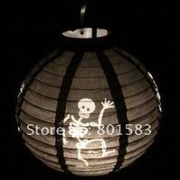 10 pcs / lot , Halloween festival  gits , Halloween decoration,Halloween gift,Paper Lantern,  skeleton lanterns,