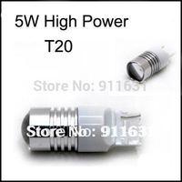 White T20 5W 12V High Power LED Light Reverse Lights Car Turn Signal Corner Car Brake Stop Tail Light Bulb Free Shipping