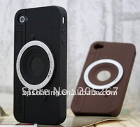Camera style silicone case cover for iphone 4S 4g
