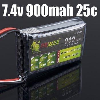 10pcs LION Power Battery 2s 7.4V 900mAh 25C Lipo Battery jst plug li-poly sky lama v3 v4 align rc kds