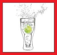Hot selling 1pcs Hopside Down Glass Beer Glass Beer Mug 420ml