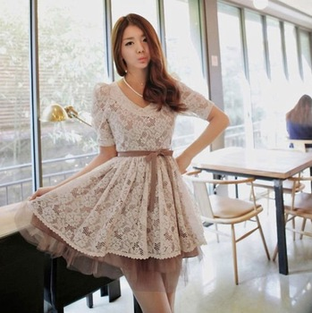 White Lace Club Dress Vintage dress,Chea Dress Free Shipping,High Quality,3 Days Leading,Wholesale Price/1 Pcs Lot-NC23-8606