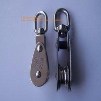 (M25) 25# Stainless steel sailing pulley block / swivel block / marine hardware 10pcs/lot