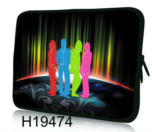 """Frete Grátis, colorido Dança Design 13 """"13.3"""" Neoprene Laptop Sleeve Case Capa Netbook Bolsa(China (Mainland))"""
