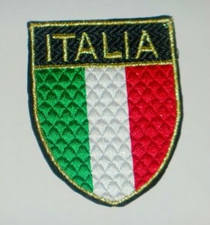 "3"" Italia Football Team UEFA Sewing On embroidery patch jersey soccer Sport Patch Badge wholesale cheap dropship(China (Mainland))"
