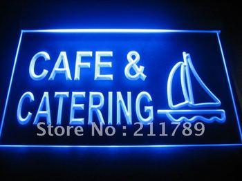 B283 Cafe & Catering Restaurant Bar Neon Light Sign