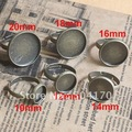 300pcs/lot 12mm Gunmetal Classic Round Cameo Cab Base Bronze Ring Settings Free Shipping LQJ003-2