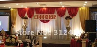 Free shipping Superdeal 3m*6m without iron elegance wedding backdrops , stage backdrops