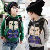 Special 2013 Autumn Korean monkeys male and female children's clothing baby fleece hooded sweater coat wt - 0230