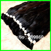 Retail with wholesal price 100% virgin Brazilian hair bulk extension factory outlet price