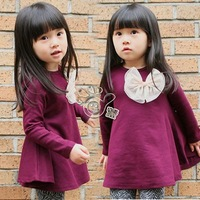 2013 autumn Princess Korean version of the new big flower girl kids baby dresses QZ-0233