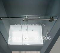 Free Shipping Modern 304 stainless steel BARN DOOR HARDWARE SLIDING GLASS SHOWER DOOR HARDWARE