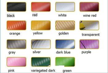 1.27*80CM 3D carbon fiber vinyl car wrapping foil-- carbon fiber sticker/14 kinds of color choice / freeshipping