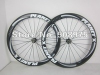 Free shipping! PLANET X R50 3K weave Tubular carbon wheels / Wheelset 50mm include hubs