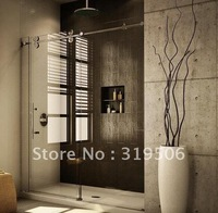 Free Shipping Modern 304 stainless BARN DOOR HARDWARE SLIDING GLASS SHOWER DOOR HARDWARE&INTERIOR SHOWER DOOR HARDWARE