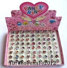 Wholesale 72pcs/lots princess design Cute Fancy Ring rings in Box(China (Mainland))