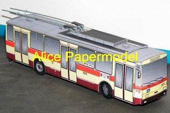 [Alice papermodel] Long 25CM modern bus truck car models