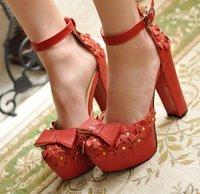 Туфли на высоком каблуке 2012 european thich bottom thin heel paltforms women pump night club shoes