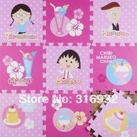 Baby Floor Mat Environmental Tasteless Eva Foam Mat , pattern: blue sakura momoko , 9pcs/pack