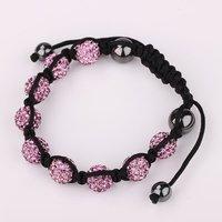 Merry Christmas!UK/US HOT! Unique CZ Crystal Disco Balls Shamballa Bracelets Fashion Jewelry For Birthday Gift New Arrival