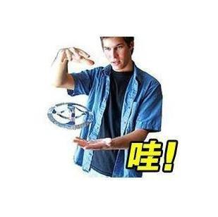 free shipping 10pcs/lot Magic suspended UFO , air floating magic UFO toys(China (Mainland))