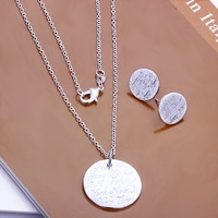 Free Shipping Wholesale 925 Sterling silver plated copper.New Arrival Necklace&Earring NE165
