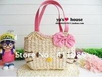 Hello Kitty black leather-like tote bag purse,2012 handbag,Free shipping