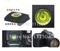Wholesale 100pcs/lot  2 IN 1 Universal Hot Shoe buble Spirit Level Cover cap for CANON NIKON PENTAX OLYMPU & Free Shipping