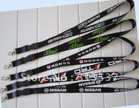 free shipping 20mm*90cm   100pcs/lot  screen printed logo automobile lanyard  JDM honda illest mugen