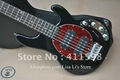 wholesale ---- 5 String music stingRay Electric bass black music bass Active controls (with 9v battery)