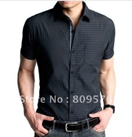 sell men slim shirt,good looking cool /handsome shirt.2012 new style.free shipping cost.business/casual  shirt