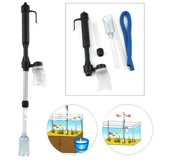 Aquarium Fish Tank Gravel Filter cleaner Water Pump Vacuum Cleaner Battery Syphon free shipping GIFT PH dipstick