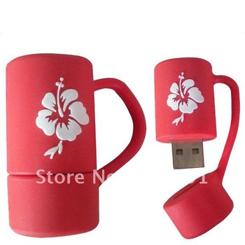 Free shipping byDHL/EMS+Free boxes!  cute cup USB flash 4G 100% real memory Free Drop shopping!